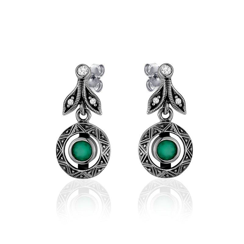Larus Green Chalcedony Earrings