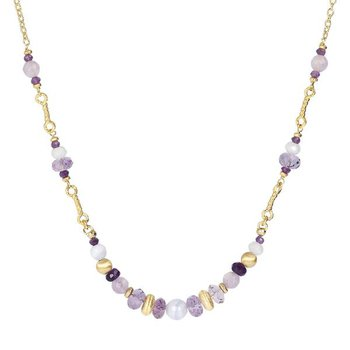 Amethyst & Blue Agate Necklace