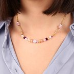 Etrusca Gioielli Amethyst & Blue Agate Necklace