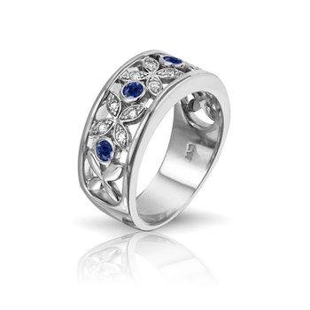 Designer Series Diamond & Sapphire Band