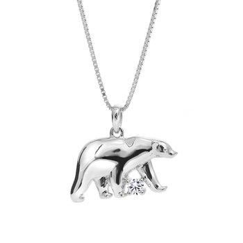 Polar Bear Canadian Diamond Necklace