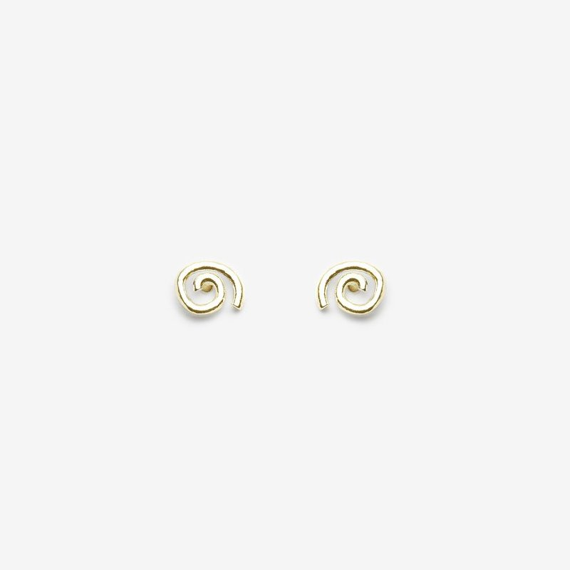Pilar Agueci Gold Herb Stud Earrings