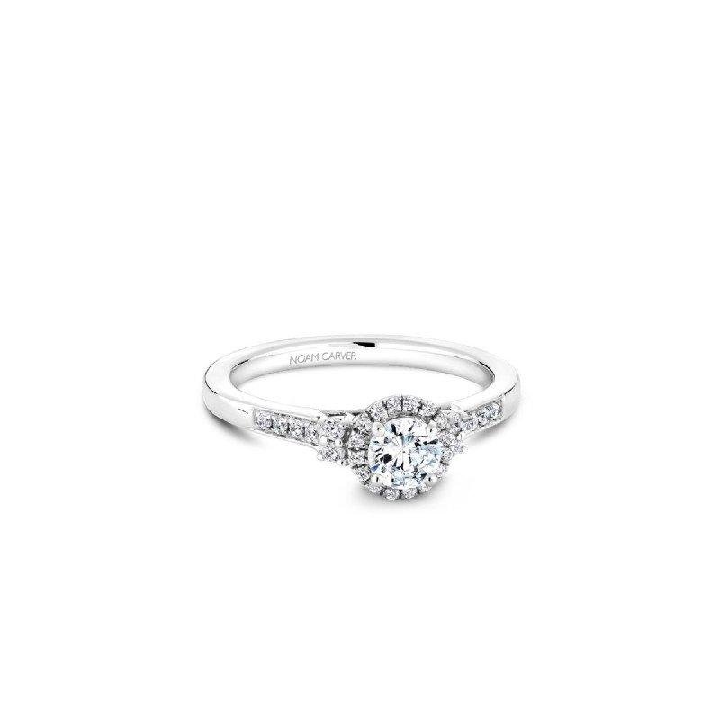 Noam Carver Halo Engagement Ring