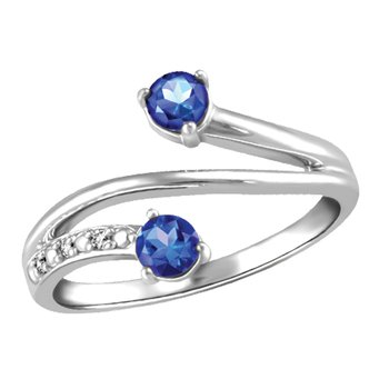 Forever Ice™ Sapphire Duet Ring
