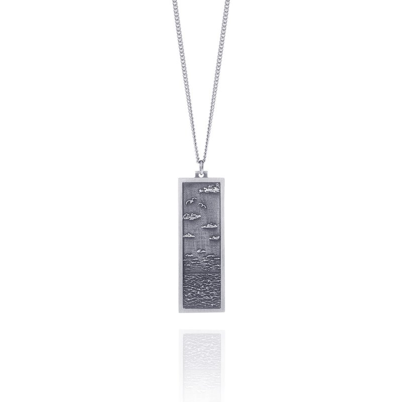 Amos Pewter Seascape Necklace