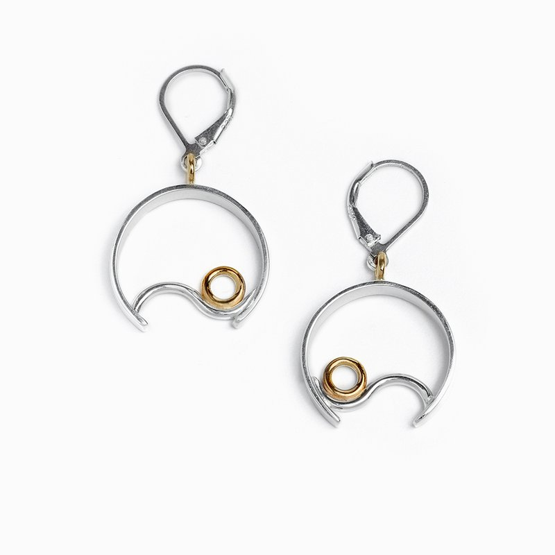 Constantine Designs Two-Tone Contentment Drop Earrings