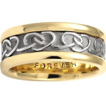 Celtic 'Interlocking Hearts' Wedding Band