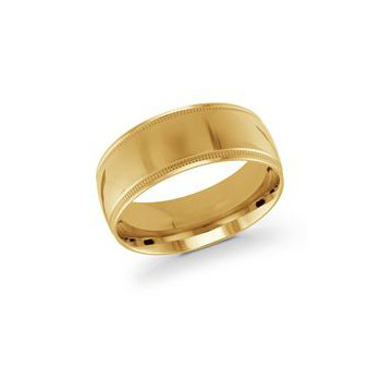 Gold Milgrain Band (9mm)