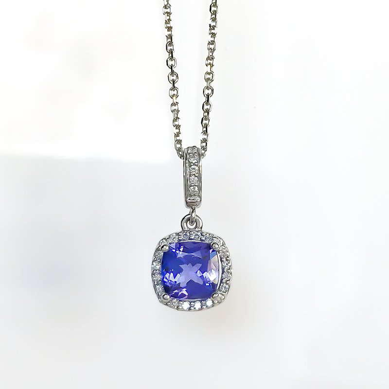 HJ Gemstone Collection Tanzanite & Diamond Necklace