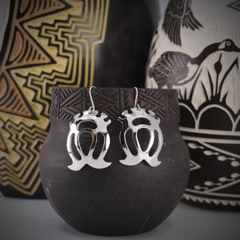 Double Crowned Heart Earrings