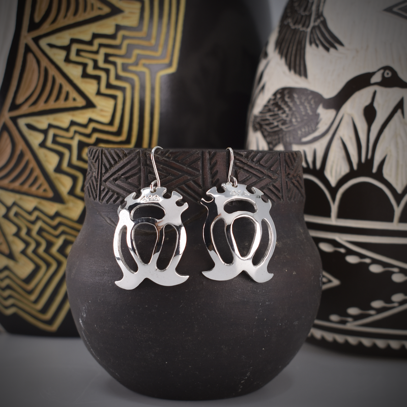 Sapling & Flint Double Crowned Heart Earrings