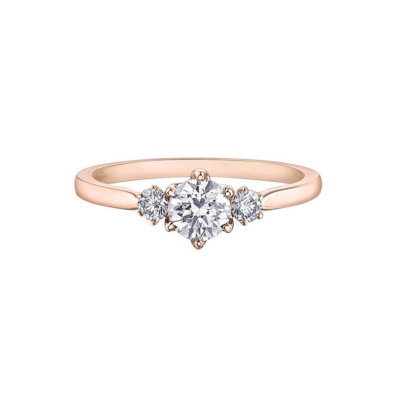Corona Canadian Diamond Three Stone Engagement Ring