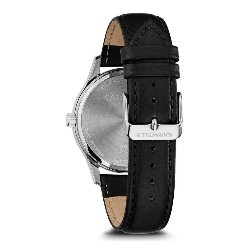 Caravelle Classic Men's Watch Black Leather