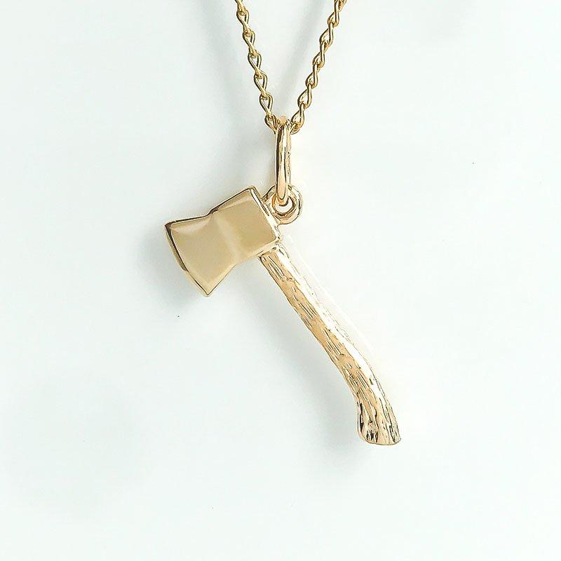 Acadia Jewellery Gold Plated Axe