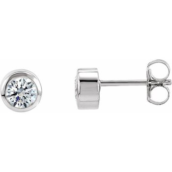 0.30CT TW Bezel Set Diamond Stud Earrings