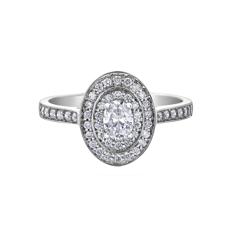 Corona Double Halo Engagement Ring