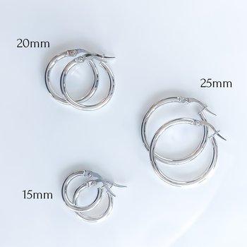 White Gold Hoop Earrings (25mm)