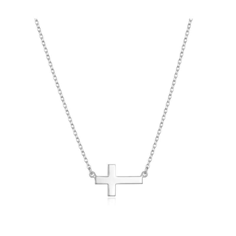 Reign Sterling Silver Cross Necklace
