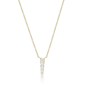 Gold Plated Graduated Cubic Zirconia Necklace