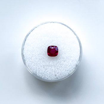 0.81ct Loose Cushion Cut Ruby Gemstone