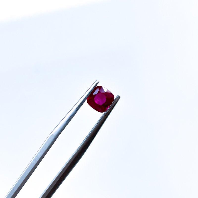HJ Gemstone Collection 0.81ct Loose Cushion Cut Ruby Gemstone