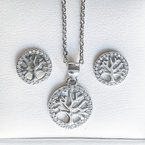 925 Solutions Tree of Life Necklace & Earring Set