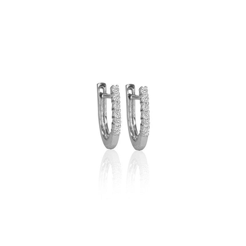 Max Strauss Diamond Hoop Earrings