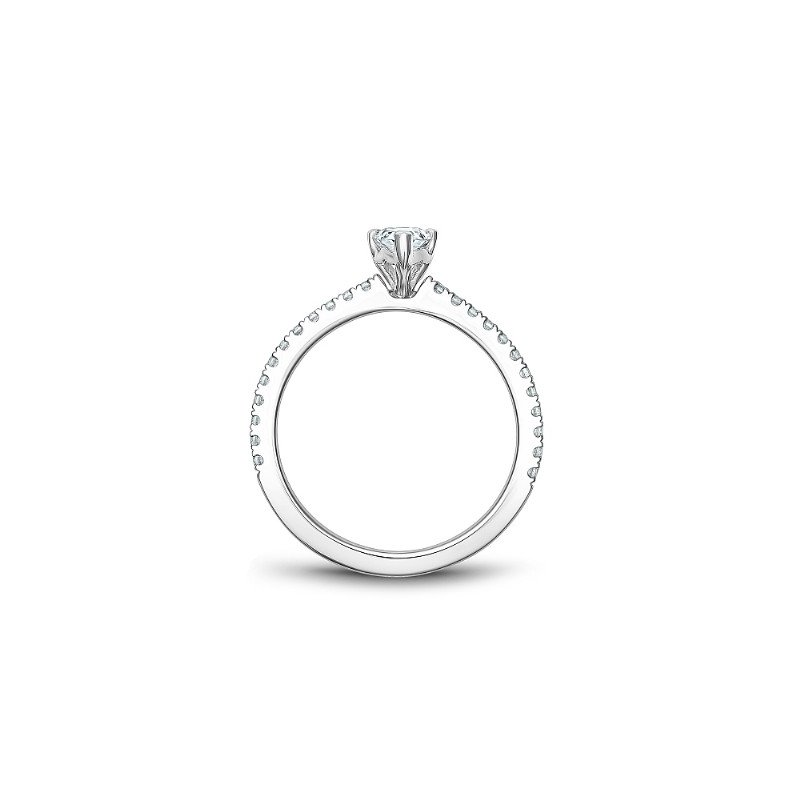 Noam Carver 0.50CT Pear Shaped Side-Stone Solitaire Engagement Ring