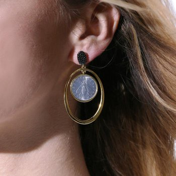 Bee Coin Drop Earrings