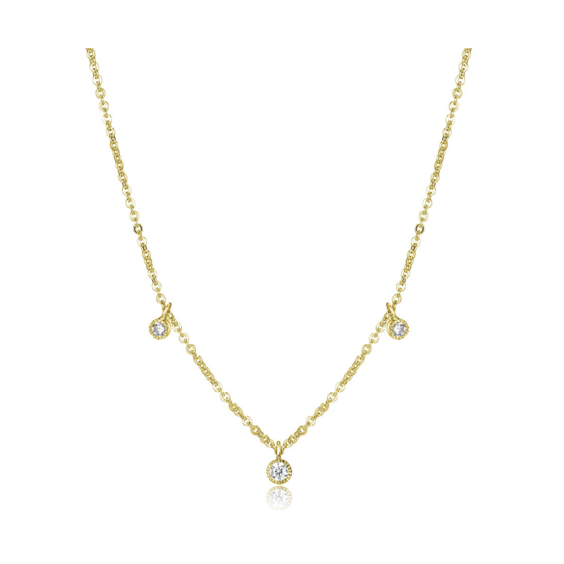 Reign Gold Plated Cubic Zirconia Sprinkle Necklace