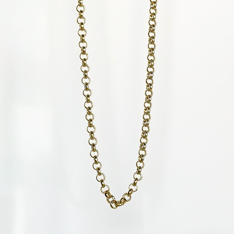 "Tecimer & Johns Yellow Gold Open Link Chain (18"")"