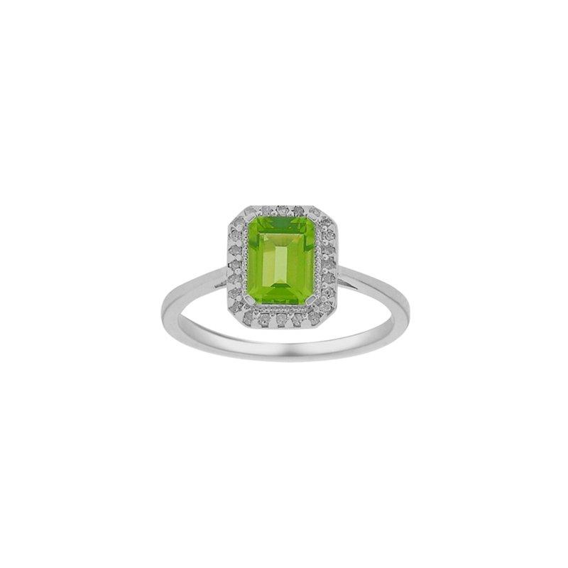 Karat Imports Peridot & Diamond Ring