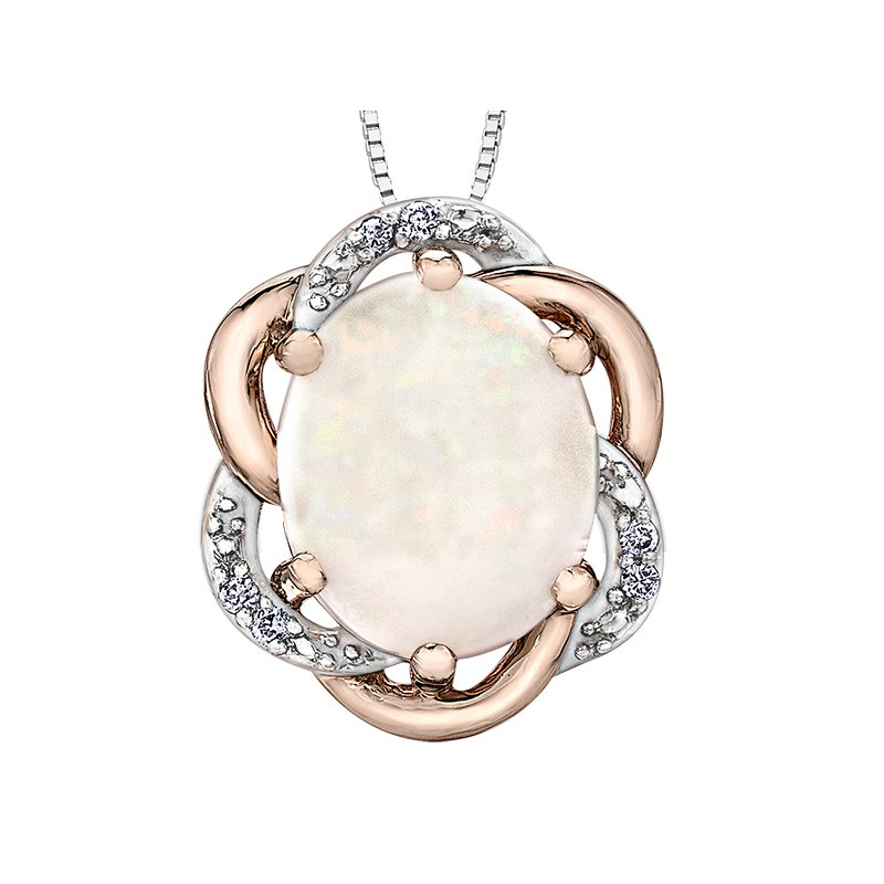 Corona Opal Diamond Pendant
