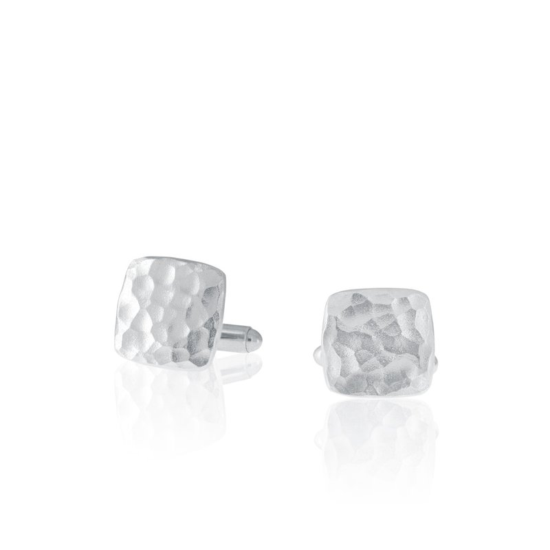 Amos Pewter Forged Cuff Links