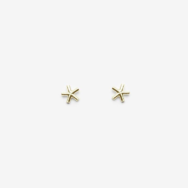 Pilar Agueci Gold Eddie Stud Earrings