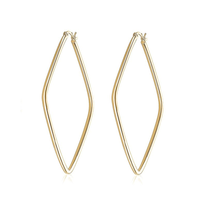 Larus Yellow Gold Plated Hoop Earrings