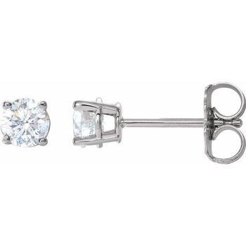0.50CT TW Glacial Ice Canadian Diamond Stud Earrings