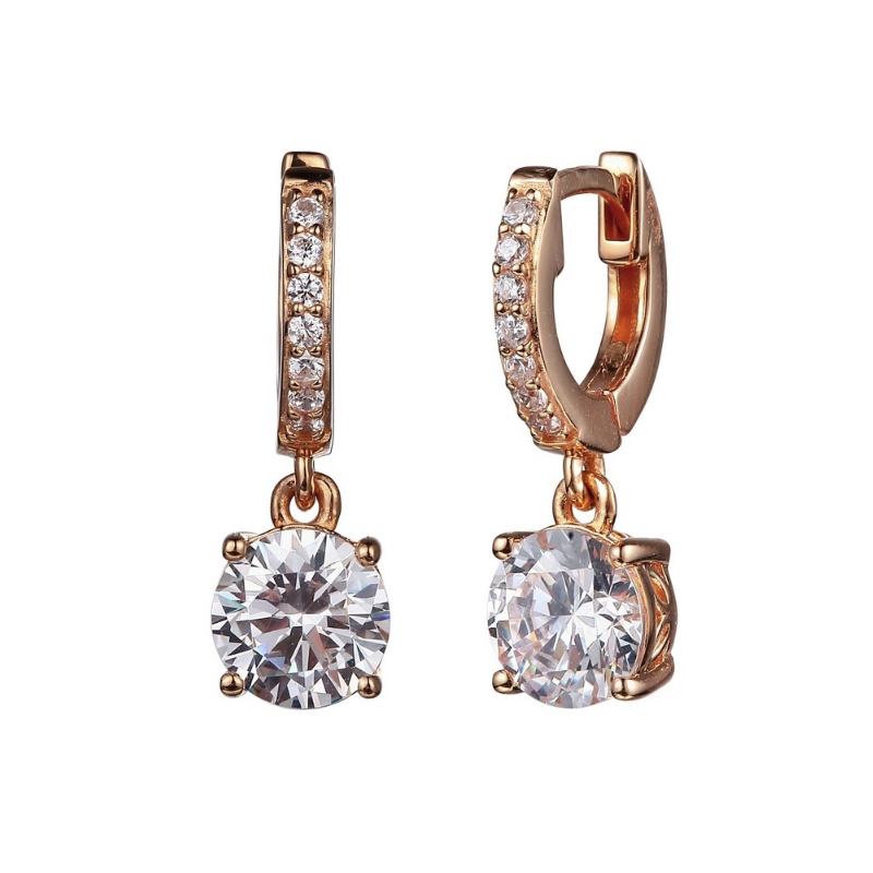 Reign Rose Gold Plated Drop Earrings