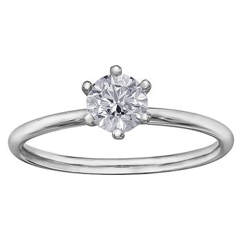 Canadian Diamond Tiffany Style Solitaire Engagement Ring