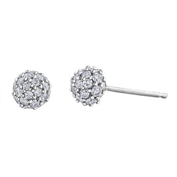 0.25CT TW Diamond Ball Earrings
