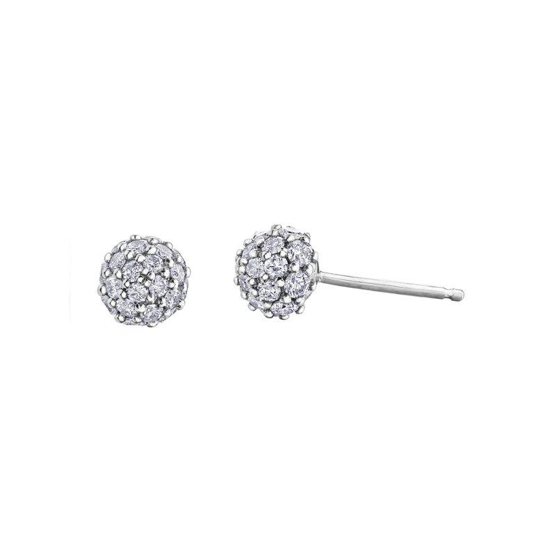 Corona 0.25CT TW Diamond Ball Earrings