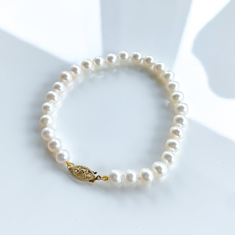 HJ Pearl Collection Freshwater Pearl Bracelet (6mm-6.5mm)