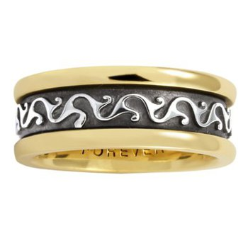 Celtic 'Scroll' Wedding Band