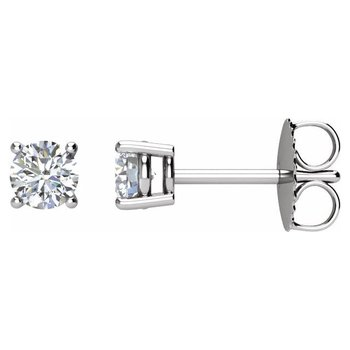 0.50CT TW Glacial Ice Canadian Diamond Stud Earrings