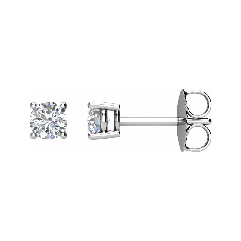 HJ Collection 0.50CT TW Glacial Ice Canadian Diamond Stud Earrings