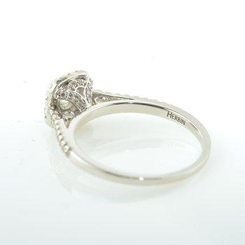 Signature Series Square Canadian Diamond Halo Engagement Ring