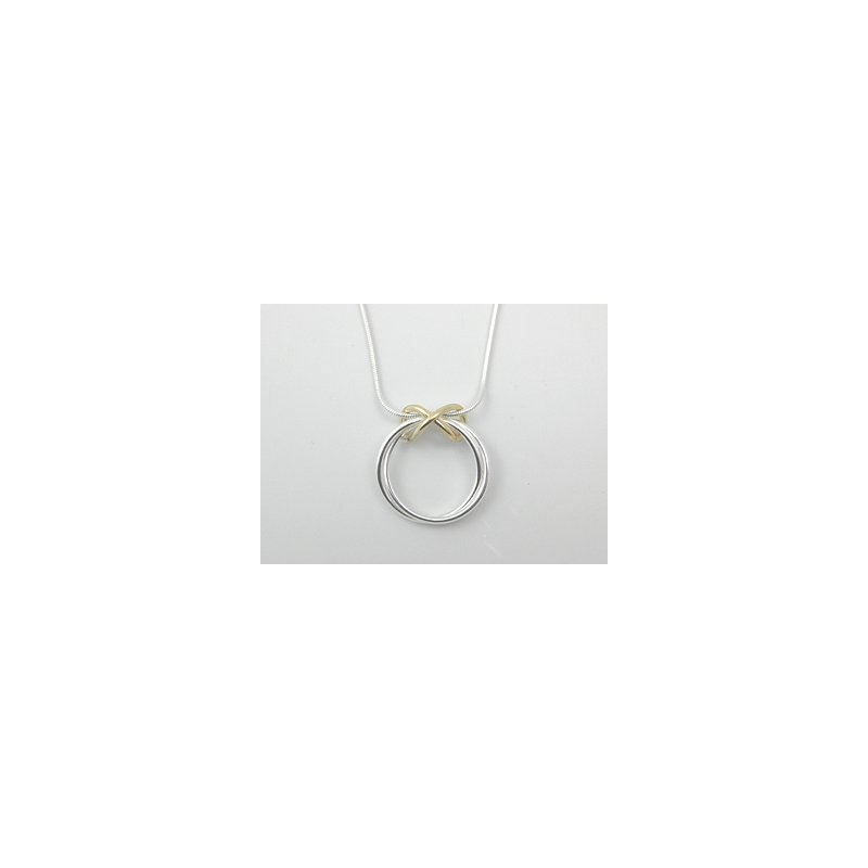Constantine Designs Two-Tone Infinity Necklace