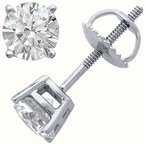 HJ Collection 0.69CT TW Canadian Diamond Stud Earrings