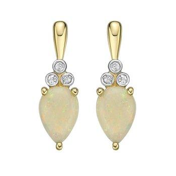 Opal & Diamond Earrings