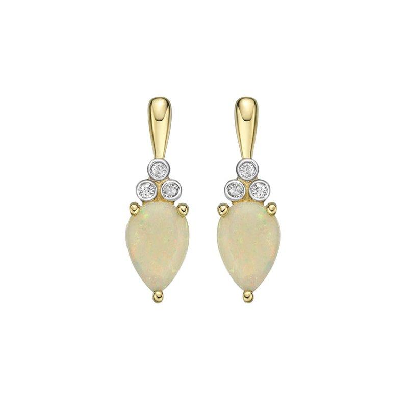 Karat Imports Opal & Diamond Earrings